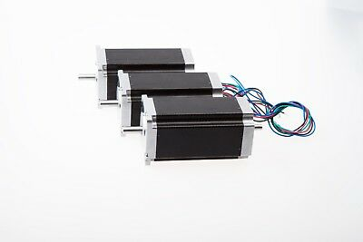 Us Free Ship3 Pcs Nema 23 Dual Shaft Stepper Motor 425 Oz.in 3.0a For Cnc Mill