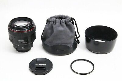 Canon EF 85mm f/1.2 L II USM Lens EXCELL+ DIGITAL EOS + BONUS MRC 72mm FILTER