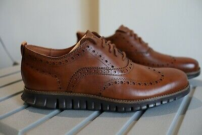 Wingtip Oxford (Cole Haan ZEROGRAND Wingtip Oxford British Tan Java C24964 Men's Size 9)