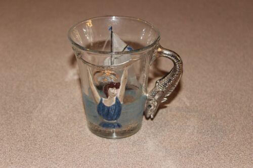 Vintage Syria Pittsburg PA Atlantic City July 13 1904 Masonic Glass Fish Handle