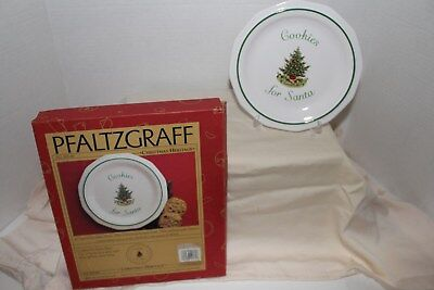 Pfaltzgraff  Christmas Heritage Cookies for Santa Plate - GC in Original Box (Boxes For Christmas Cookies)