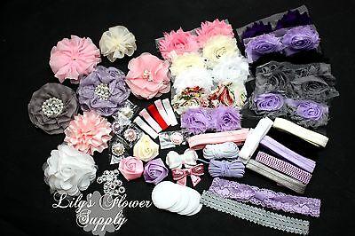 Baby Shower Headband Kit - Deluxe DIY Hair-Bow & Headband Kit - Diy Headband Kit