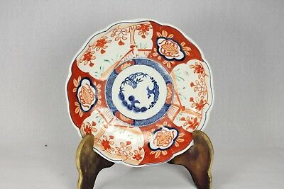 Vintage Japanese Pottery Hand Painted Plate Shallow Bowl Antique Collectible