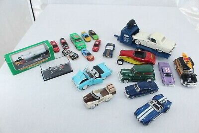 Modern And Vintage Various Brands And Model Die Cast Cars Collectibles Lot of 21