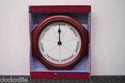 DAYCLOCK Mahogany 7 Day of Week Clock Date Retirement DAYCLOCKS  RV -