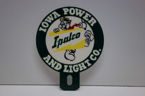 IOWA POWER & LIGHT CO  Willie Wiredhand Reddy Kilowatt LICENSE PLATE TOPPER !!!