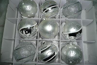 Exklusive Christbaumkugeln Weihnachtskugeln Christbaumschmuck Krebs silber 8cm