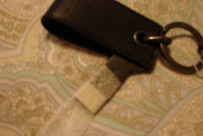NWT COACH Black Leather USB Flash Drive Keychain FOB 4GB Fold Out MSRP:$75.00 - Cheap Coach Keychains