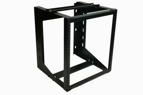 "DavisLegend 12U Wall Mount IT Open Frame Swing Network Rack Hinged Black 19"" Tap"