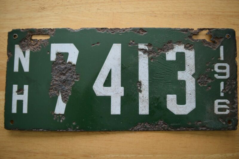 1916 New Hampshire License Plate #7413