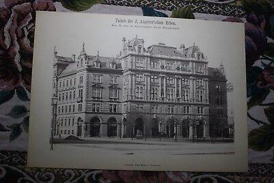 1886 5 / Wien IX Alsergrund Palais Angerer Maximilianplatz Architekt von Föster
