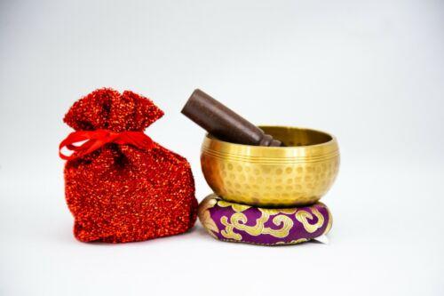 """Handhammer Tibetan 3.5"""" Singing bowl for Yoga, Meditation, Sound healing."""