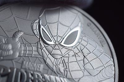 2017 1 oz Tuvalu Spiderman Marvel Series Silver Perth Mint