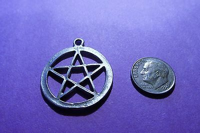 Twenty  Wiccan  Pentacle Pentagrams Pewter Lot