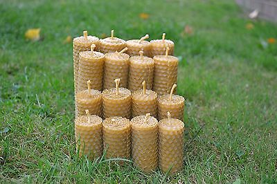 """HANDMADE PURE BEESWAX CANDLES """"SET OF 12 CANDLES"""" 100 % ORGANIC"""