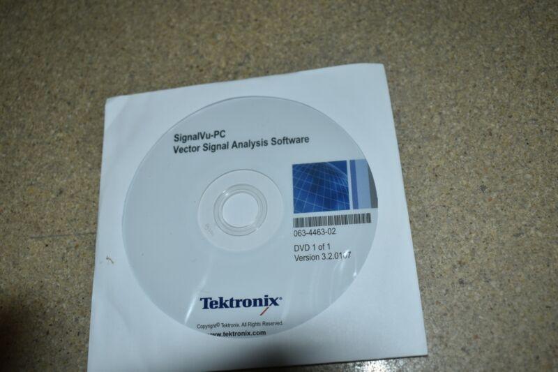 <CHV> TEKTRONIX SIGNALVU-PC ANALYSIS SOFTWARE 063-4463-02  (PD7)