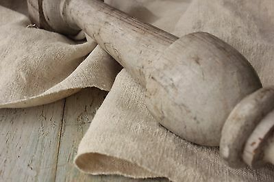 Antique hemp material Upholstery fabric 82 inches ~ washed organic linen hemp