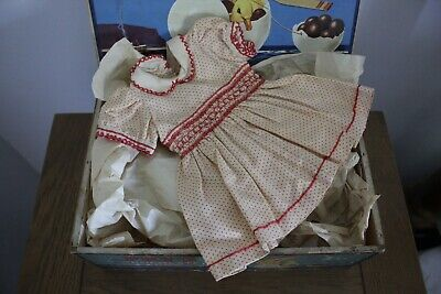 1950s Vintage dolls pin spot smocked viyella party dress