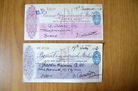Lotto 2 Assegni Bancari Banca Commerciale Italiana Filiale Londra 1938 1937 -  - ebay.it