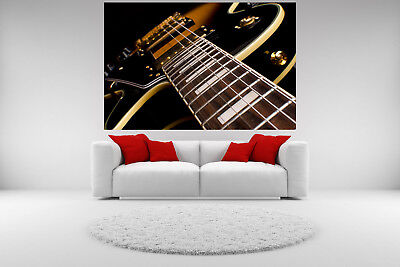 Electric Guitar Canvas Giclee Print Neck Picture Unframed Home Decor Wall Art (Electric Guitar Decorations)