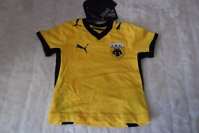 A.E.K ATHENS F.C. KIDS SHIRT AGE 0-3 MONTHS BRAND NEW WITH TAGS MUST L@@K!!!