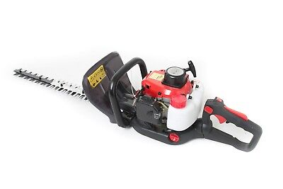 26cc Petrol Hedge Trimmer 61cm Double Sided Blade 2 Stroke for sale  Shipping to Ireland