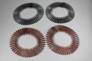 Brown Black Set pack of 4 Flex spider hair comb teeth accordion stretch headband