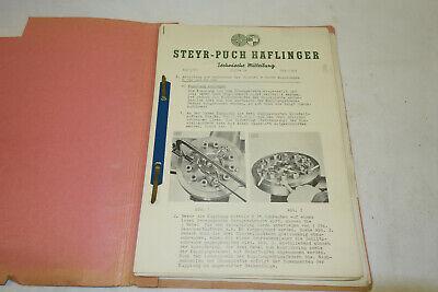 RP871: ÖBH Technische Mitteilungen Steyr Puch Haflinger 1966 SELTEN