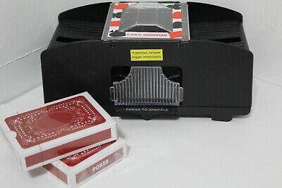 Automatic Electronic Poker Card Shuffler Electric Shuffling Machine w/ 2 Decks
