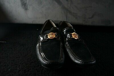 Authentic Black Mens Versace Loafers Uk Size 10