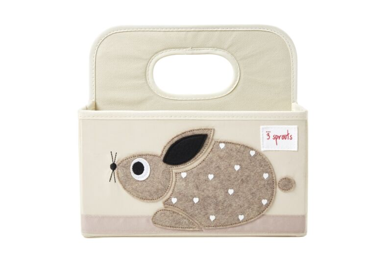 3 Sprouts Baby Diaper Caddy - Organizer Basket for Nursery, Rabbit