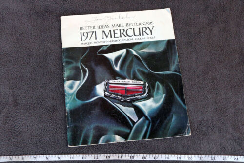 1971 Mercury Better Ideas Make Better Cars Brochure Vintage Old Automobilia KB