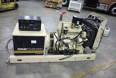 26 Kw Kohler Diesel Generator 381 Hours 20r0zj01
