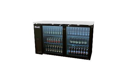Migali C-bb60g 60 Two Glass Door Back Bar Beer Cooler Merchandiser On Sale