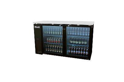 Migali C-bb60g-hc Two Door Back Bar Beer Cooler Glass Merchandiser