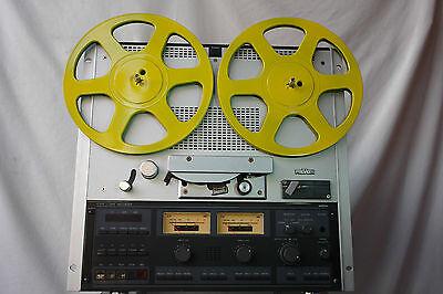 Stylische gelbe 26,5 cm Tonbandspulen Bandspulen für Revox Akai Teac etc.