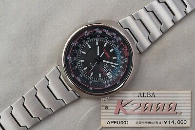 Alba by Seiko RallyMeter K2000 V743-6A30 1997 APFU001 Speed Timer Watch NOS