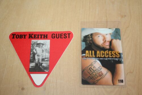 Toby Keith - 2 x Backstage Pass  - one laminated  - FREE POSTAGE-