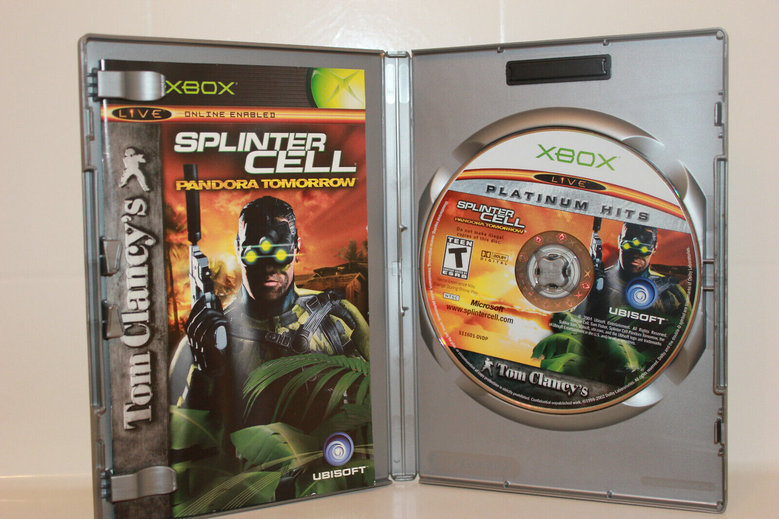 Splinter Cell Pandora Tomorrow (Xbox, 2004) Xbox 360  Xbox One Compatible Game