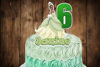 Princess Tiana (Princess and the Frog) Cake - Frog Cake Toppers