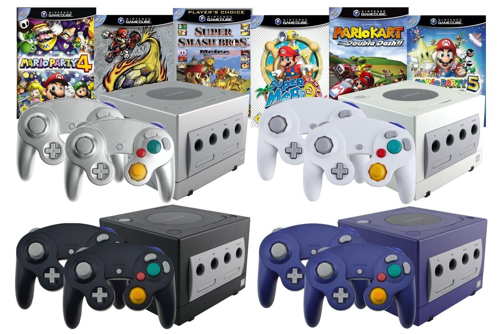 Nintendo GameCube Konsole 1 2 3 4 Controller, Memory, Kabel, Strom & Spiel