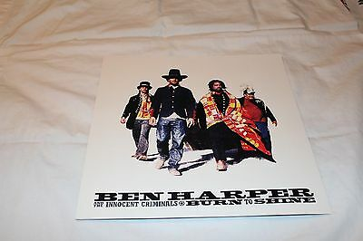 Ben Harper and the Innocent Criminals Promo Flat-BURN TO SHINE