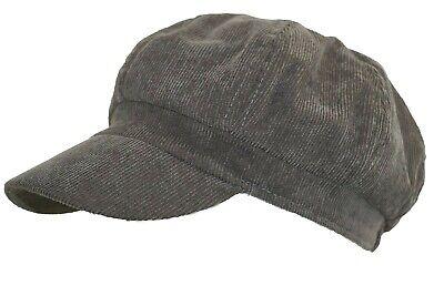 Unisex Narrow Corduroy Newsboy Hat Elastic Back Gatsby Ivy Cap L Brown New Corduroy Newsboy Cap