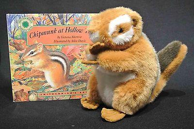 Smithsonian's Backyard Stuffed animal Chipmunk and book