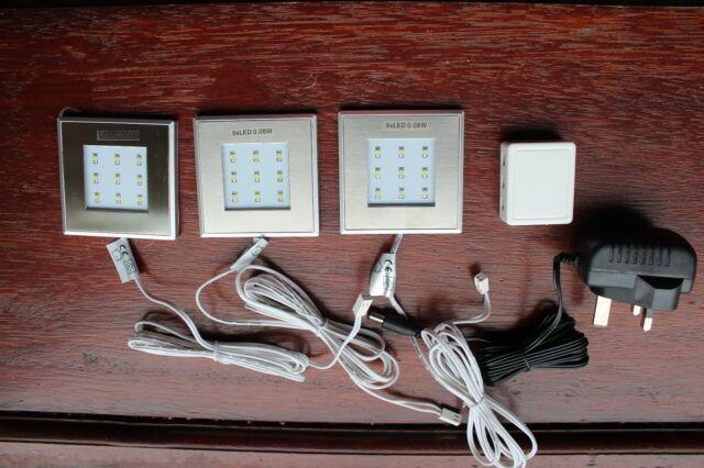 Led Bathroom Plinth Lights enluce set of 3 square white led kitchen bathroom plinth lights