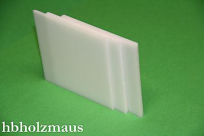 Polyester PET opal Zuschnitt  1250 x 270 x 4 mm ca. 40% Trans.