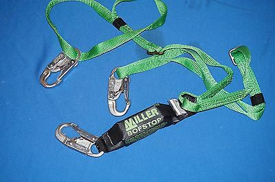 New Miller Green Two Leg Hp Lanyard With Sofstop Shock Absorbed