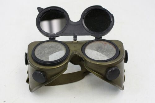 WELDING GOGGLES Vintage Safety Steampunk Clear Lenses Flip Up Tinted Lens -M75