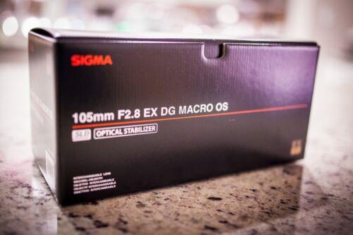 Sigma 105mm f/2.8 EX DG OS Macro Lens for Select Canon Full-Frame DSLR Cameras Black 258101
