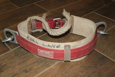 Used Sky Genie Linemans Pole Climbing Belt Harness. Descent Control Inc. Sturdy